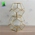 Wholesale handmade glass vase souvenir copper geometric Terrarium