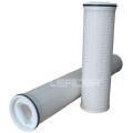 High flow rate Pleated membrane filter cartridge