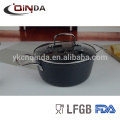 Forged grey 28cm large stock pot with flat SS ears
