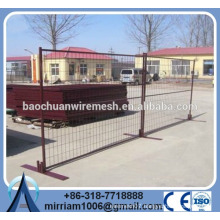 6 'galvanized and powder coating easy fence temporary fence