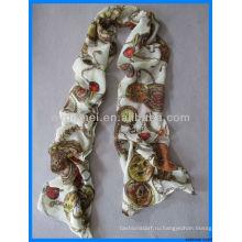 Последний дизайн пользовательских моды дешевый атласный шарф