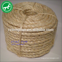 3/4 strand natural untreated sisal rope 1 inch 6mm for packaging, agriculture, marine,shipping