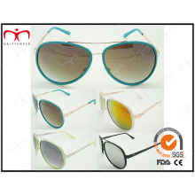 Best Selling with Brilliant Color Ladies Metal Sunglasses (40411)