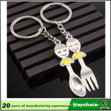 Couple Keychain Sales Promotion Fork and Spoon Keychain