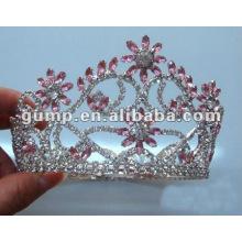 Mini corona encantadora del Rhinestone de la corona para la fiesta