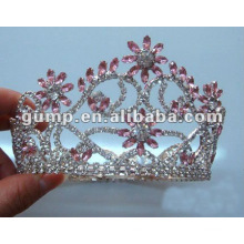 Encantadora mini tiara do Rhinestone da coroa para a festa