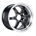 Achter Truck Velg 18x10.5 Black Milled Spoke