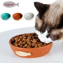 2017Doglemi New Selling Cerâmica Pet Cat Alimentador Tigela