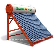 Calefactor de agua solar de energía solar de tubo evacuado integrado sin presión con estándar SABS (24TUBES)
