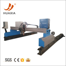 Máquina de corte de llama y plasma de pórtico CNC de metal.