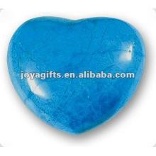 40MM Blue Howlite Stone Hearts