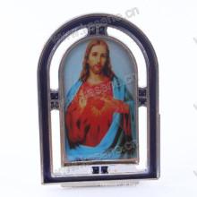 Liga de zinco Gualalupe quadro, católica religiosa juses metal permanente crucifixo