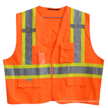 3m Reflective Strip Velcro Pocket High Visibility Safety Vest (YKY2813)
