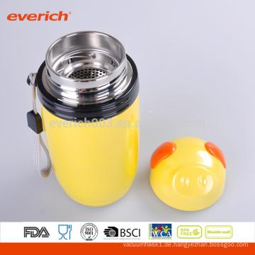 16 Unzen Edelstahl Doppelwand Vakuum Teebehälter Farbe Beschichtet Gelb