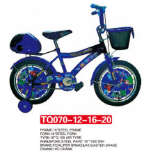 Wheel Cover of Blue Children Bicycle