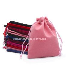 Drawstring Velvet Dust Bag / Jewelry Pouch Velvet Fabric Gift Bag