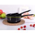 1qt cucharón de esmalte de utensilios de cocina duradero / pote de leche con mango