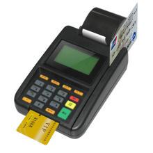 Máquina da posição do furto do cartão de crédito da microplaqueta de Visa da bancada