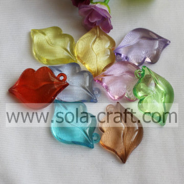 10*30*45mm Assorted Color Imitation Clear Acrylic Lip Drop For Phone Chain