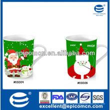 Taza de cerámica popular y caliente de la Navidad del regalo 12oz de la venta