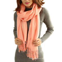 Fashion Solid Color Women Scarf Winter Long Tassels Lady Shawls Cashmere Pashmina Hijabs Scarves Wraps