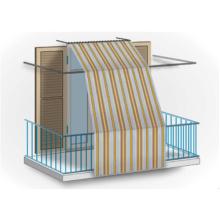 Rideau de fenêtre en polyester pour protection de balcon