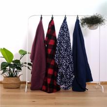 Cobertores domésticos de flanela de flanela de tecido 100% microfibra