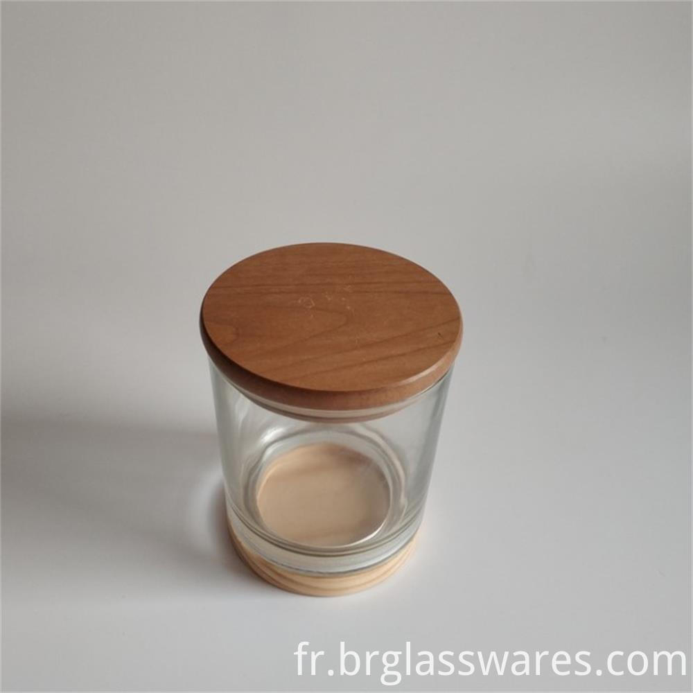 wooden top and wooden bottom glass candle jar4