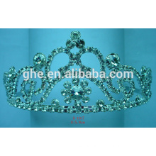 rhinestone pageant crown vintage crystal tiara princess crown ring new design hair