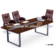 Professional office furniture for meeting table MDF + Melamine finishing with beautiful wenge color upholstery (JO-4030)