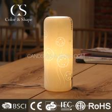 Lámpara de mesa de estudio de patrón de diente de león de forma promocional florero