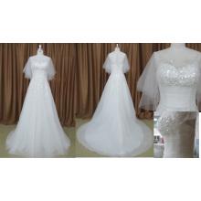 Juiet en mousseline de soie perlée robe de mariée élégante