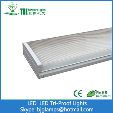 36W Tri-poof lights With T8 LED Tube Lamps