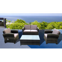 Sillas de mimbre al aire libre muebles función sofá conjunto