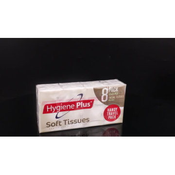 3 Ply Wood Pulp Paper Facial Pocket Tissue