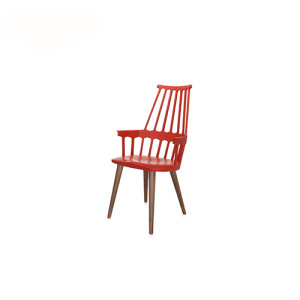 Kartell 2 Pack Kaki Wooden Chair Comback