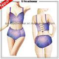 OEM 2016 tela señoras sexy V forma de una pieza Swimwears