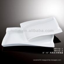 modern white rectangular porcelain plates