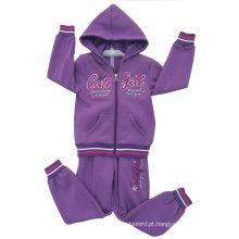 O velo caçoa o terno do esporte da menina no desgaste das crianças para os casacos de lã Swg-129