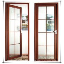 Вудвинская высококачественная двойная закаленная стеклянная алюминиевая дверца