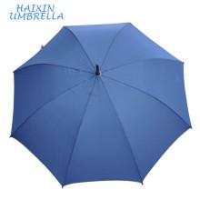 Paraguas De Chine Bleu Ligne Auto Classique Crook Poignée En Bois Bâton Parapluie Grande Taille Avec Neverwet Technologie