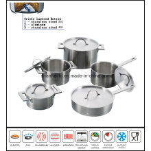 Stainless Steel Impact Straight Bottom Cookware Set
