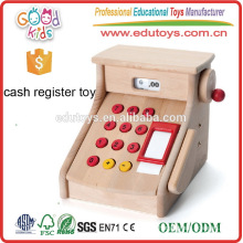 Playing Wooden Toys Kids Cash Register, Handcrafted Nature Cash Counter Toy for girls