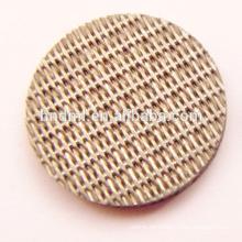 Malla de filtro de fieltro de fibra no tejida sinterizada de acero inoxidable de 15 micrones