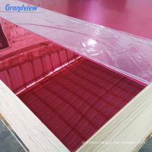 1 mm anti-scratch rose pink plastic plexiglass mirror sheet