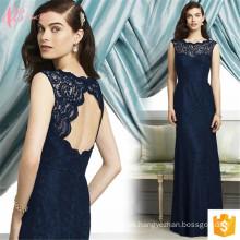 2017 Elegantes blaues Maxi kleidet langes Abschlussball-Kleid Sexu zurück geöffnetes Abend-Kleid