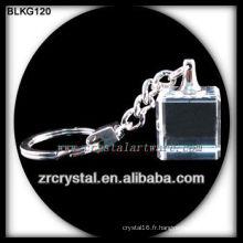Porte-clés en cristal blanc pour la gravure laser 3d