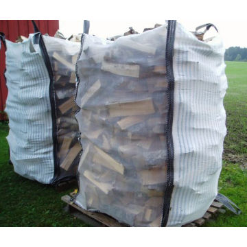 Top Open, Bottom Flat Belüftete Big Bag für Brennholz