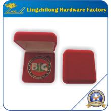 Moneda personalizada de alta calidad en caja de terciopelo