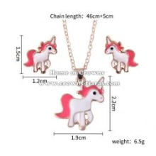 Wholesale Baby Pendant With Unicorn Earrings Set